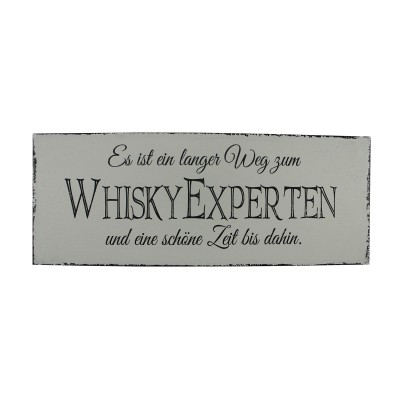 Loungeschild / Türschild Whiskey Experte